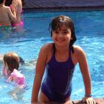En la piscina del hotel. Genial!