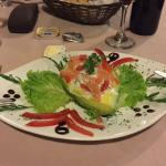 Avocado stuffed with smoked salmon cream!