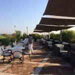 Roof Garden at breakfast