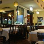 Inside the Vietnam restaurant.