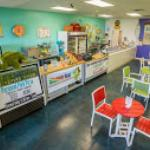 Our colorful shop with plenty of indoor seating for the hot Florida days.