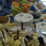 Breakfast buffet - sweets and fruit