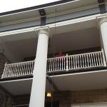 View up to the balcony of Master bedroom