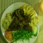 The best dish in Platanies this year, traditional goat