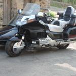 un motard en vacance