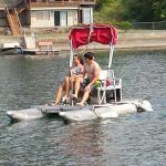 Rent the Aqua Bikes--  inexpensive & safe fun!