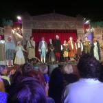 La troupe lors de la représentation de Cyrano de Bergerac