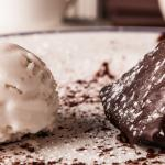 Chipotle Chocolate Cake with Coconut Ice Cream