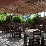 The cozy terrace of Filitsa