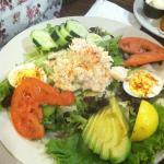 Seafood Louie salad (needs more salad)