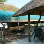 Tent and kitchenette