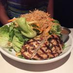 Asian entree salad with chicken