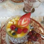 Fruit at breakfast in the sun room