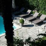 Hotel zima Blick vom Frühstück Balkon aufladen Pool