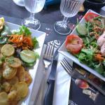Omelette jambon & Salade campagnarde