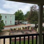 View from our front door on the 2nd floor. That is the square and main hub of Dahlonega!
