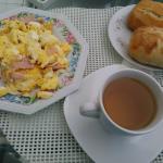 Excelente desayuno, tienes hasta cinco opciones para elegir...!!!