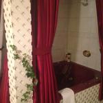 """Whirl Pool tub/shower in """"Secret Garden"""" room"""