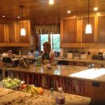 Beautiful kitchen and innkeeper