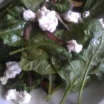Fresh Spinach Salad with Portabello Mushrooms