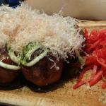 fried wheat balls with octopus