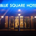 Blue Square by night