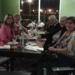 Cenando  en el termal Villa Elisa.