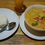 Panang curry en version végétarienne pour 110 baths