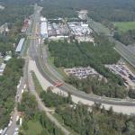 La curva parabolica dell'Autodromo Nazionale Monza dall'alto