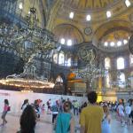Inside the Hagia Sophia, less than 10 minutes from Seraglio