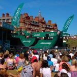Boardmasters surf festival on the headland