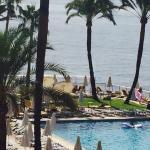 Vistas de la piscina desde la habitación 314