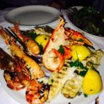 Charcoal grilled seafood platter for 2