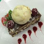 Kariba's Famous Chocolate & Pistachio Biscuit Cake