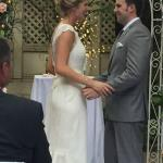 Wedding Ceremony held in the Seven Gables Courtyard