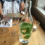 still water in a bottle with fresh mint