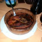 Parmigiana di melanzane cotta in forno a legna