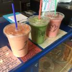 Some of the wonderful juices available made freshly for you at Juice Box