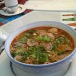 Free soup.....egg rolls......spring rolls....thai noodle soup...husbands favorite whole fish.  W