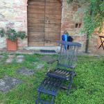 Rustic apartment door at La Falconara