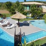 Um hotel bem cuidado, com uma piscina bem linda!