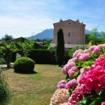 Lovely garden and view of Mt. Canigou
