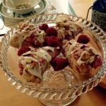 Breakfast includes freshly made scones, sweet breads, homemade granola, freshly cut fruit cup, o