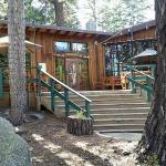Restaurant entrance and deck