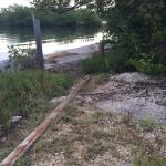 This is the waterfront located a half a block from the tropical cottages. Don't plan on going sw