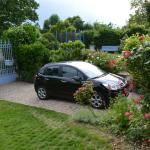 Our car in the front garden.