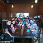At Island Cafe with family