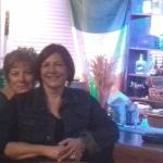 With mama Soula at the bar of Bellino.