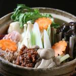 sansai(edible wild plant)soup 山菜みそ鍋