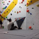 Alex trying a competition route